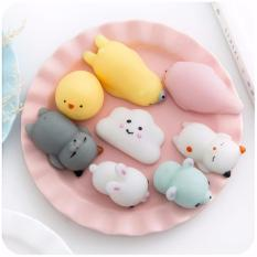 JBS 3 Pcs Silicone Squishy Toy Fidget Hand Rising Animal Squeeze - Squishy Handphone - Squishy Case Hp - Random