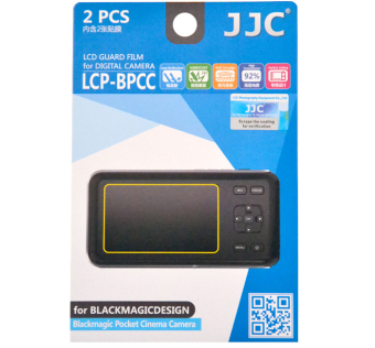JJC LCP-BPCC Hard LCD Guard Film Screen Protector ForBlackmagicdesign Blackmagic Pocket Cinema Camera (2 Pack) - intl