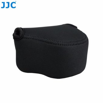 JJC Neoprene Mirrorless Compact Camera Pouch Case Bag (lembut kantong tas pelindung) for Canon EOS M M2 M3 M10+22mm Lens, Canon PowerShot SX410IS SX420IS SX500IS --Small (up to 111 x 69 x 87mm) - 2