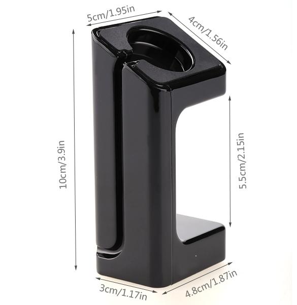 In Portable Charging Stand For Apple Watch Cord Holder DockingStation Holder (Black) .