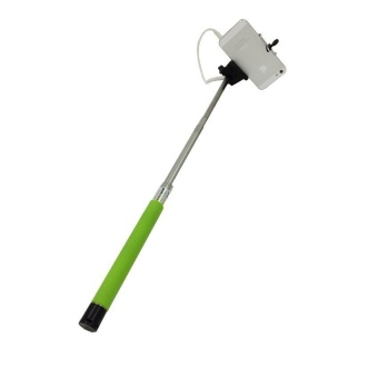 JOR Wired Fashion Portble Extendable Selfie Stick For Phone Camera Monopod for outerdoor - Green - intl
