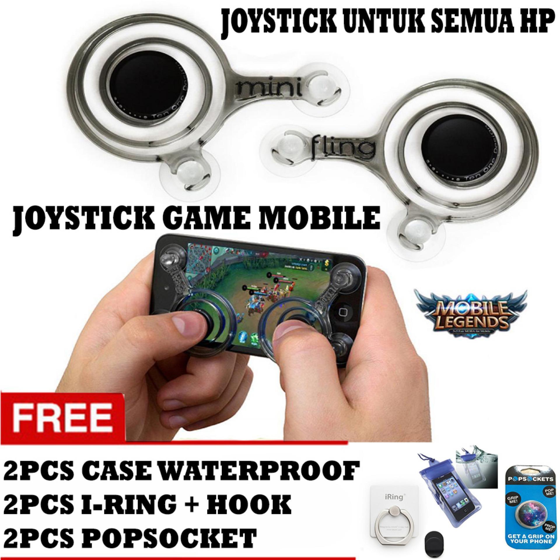 Joystick Game Mobile / Joystick Mobile / Stick Game / Stick Analog - Hitam + Gratis