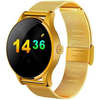 K88H Smart Watch 1.22 Inch IPS Round Screen Support Heart RateMonitor Bluetooth smartWatch For apple huawei IOS Android(Gold)