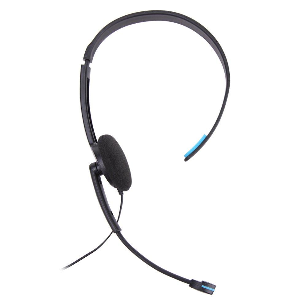 ... Kabel mikrofon Headset untuk Sony PlayStation 4 PS4 permainan(Hitam dan Biru) - International ...