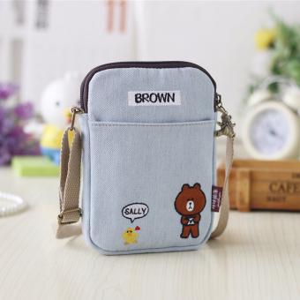 kanvas Messenger perempuan handphone tas Mini tas kecil