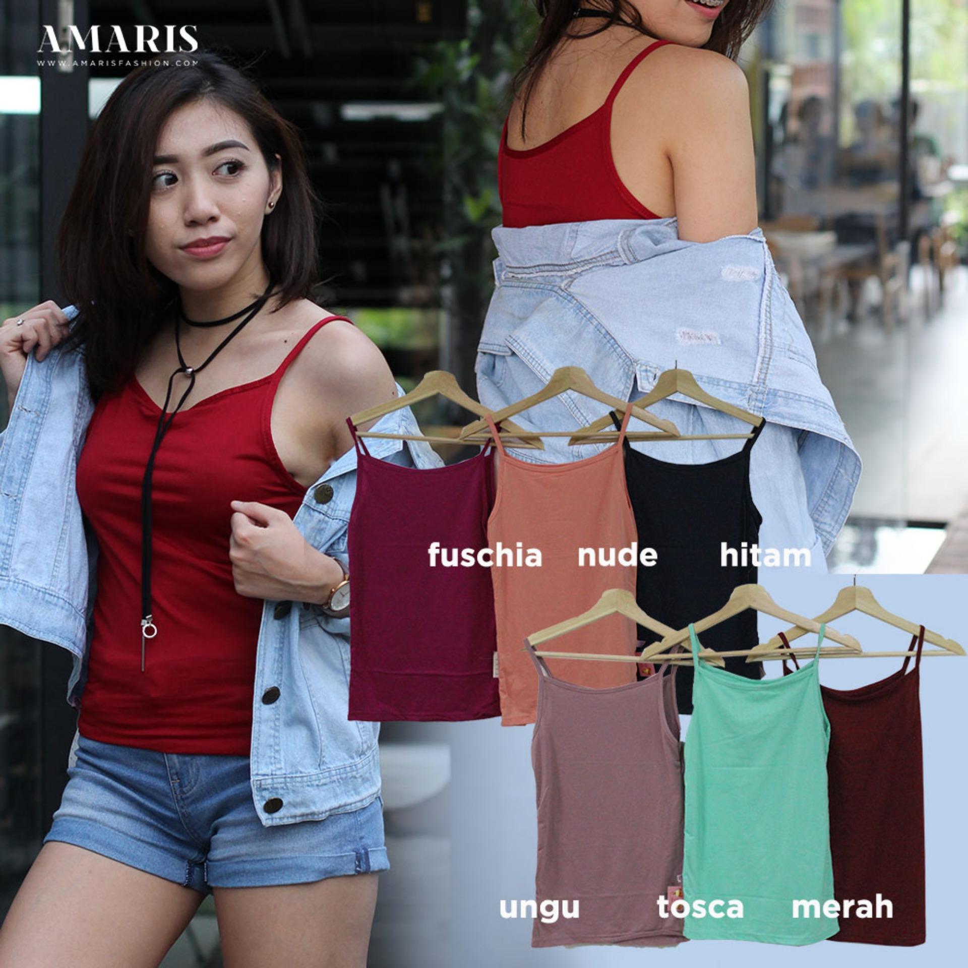 Cek Harga Baru Amaris Fashion Tanktop Singlet Tali Kecil Multicolor Baju Kaos Pria Murah