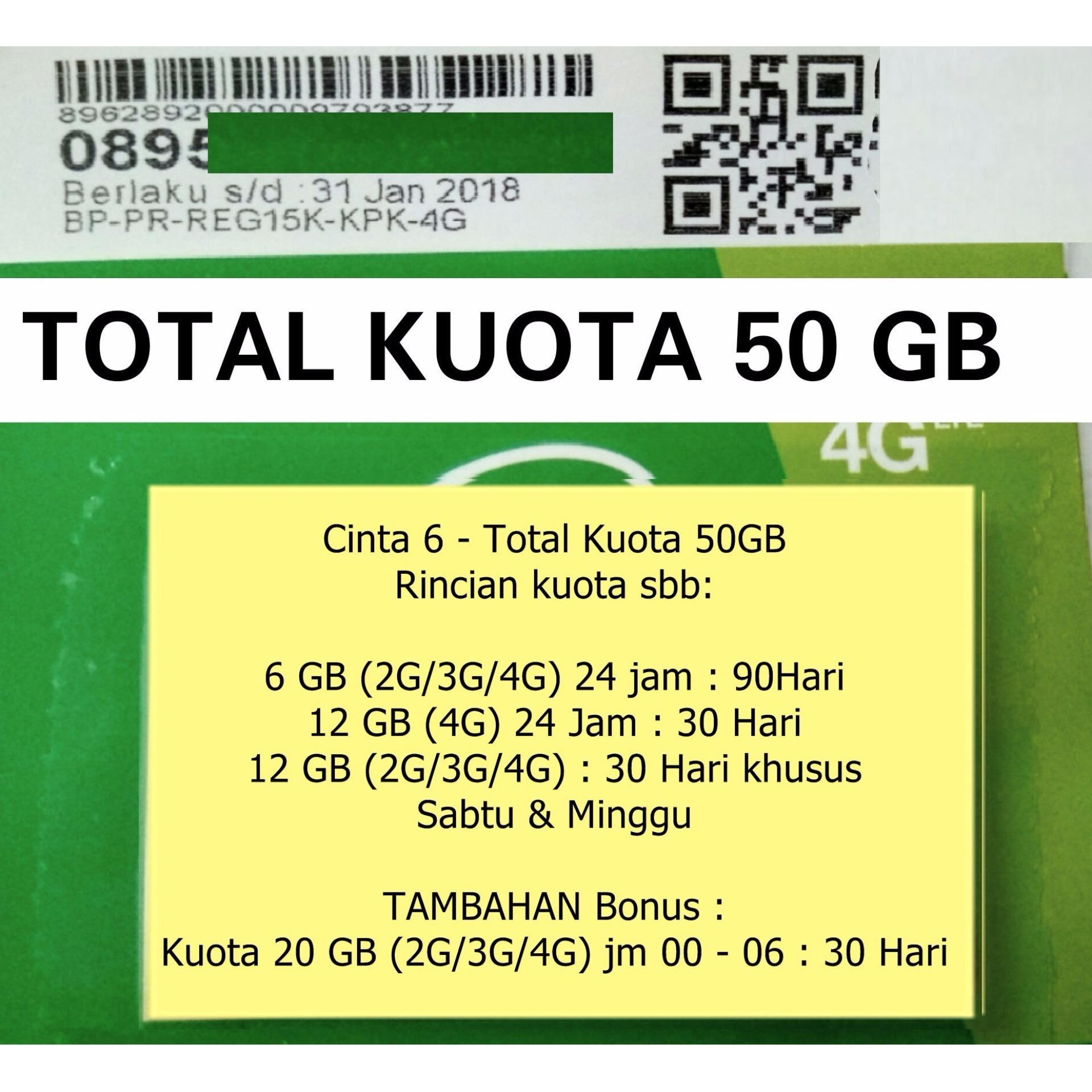 Hot Deals Kartu Perdana Tri Cinta 6 Kuota 30gb Three Cinta6 Smartfren 4g Gsm 55 Gb