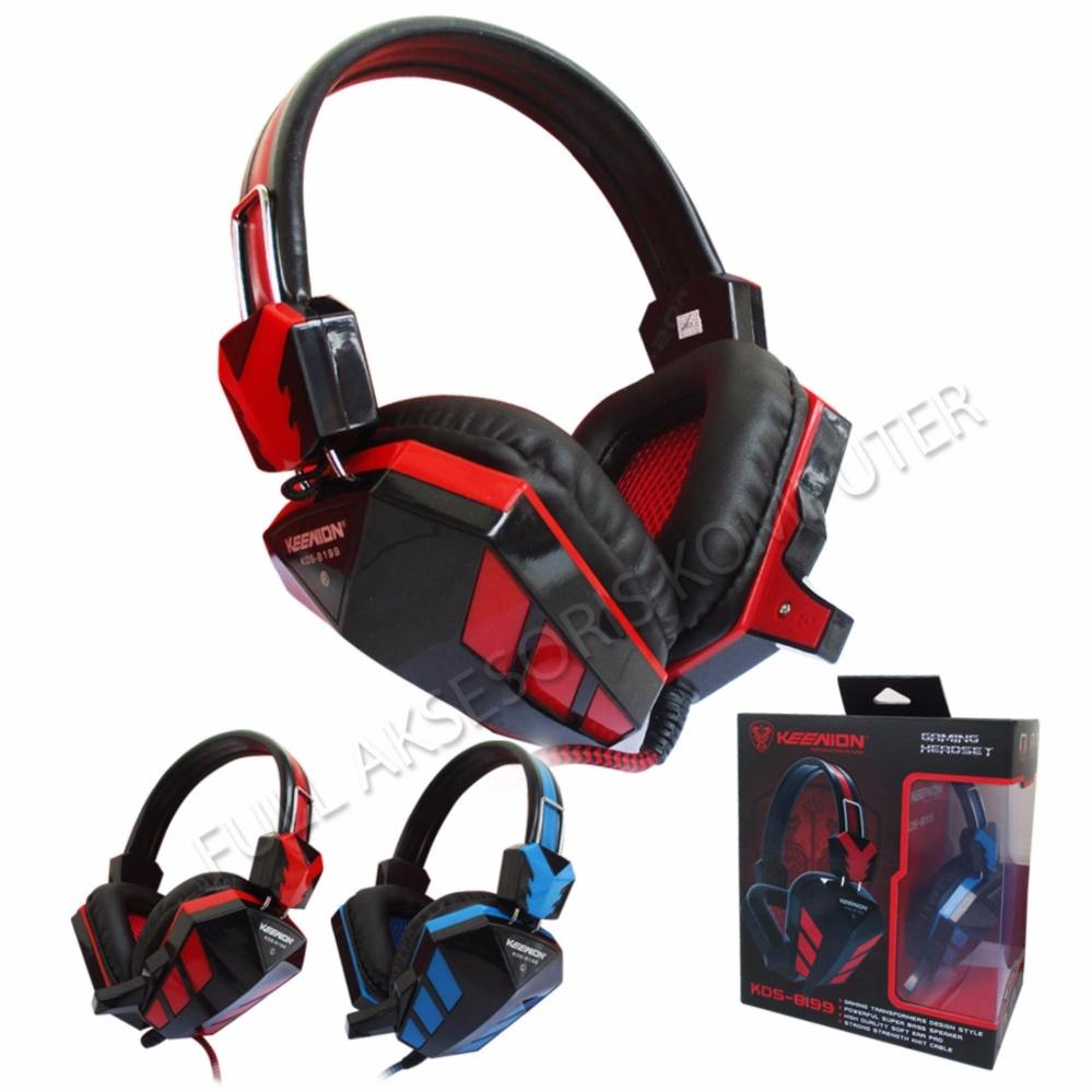 Keenion Headset Gaming KOS-8199  - Merah