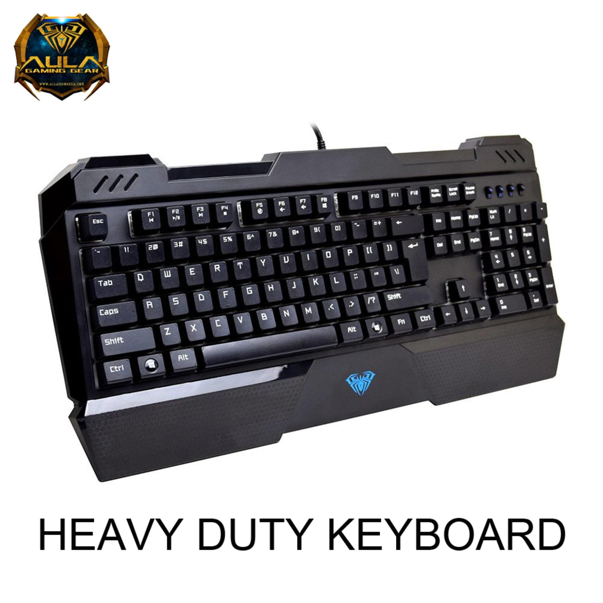 Penawaran Aula F2012 Profesional Blue Axis Wired Mechanical Gaming Keyboard Golden Review Aula