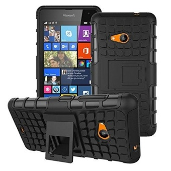 Kickstand Hybrid Dual Layer Armor Defender Silicone Hard CaseShockproof Cover for Microsoft Nokia Lumia 535 - intl