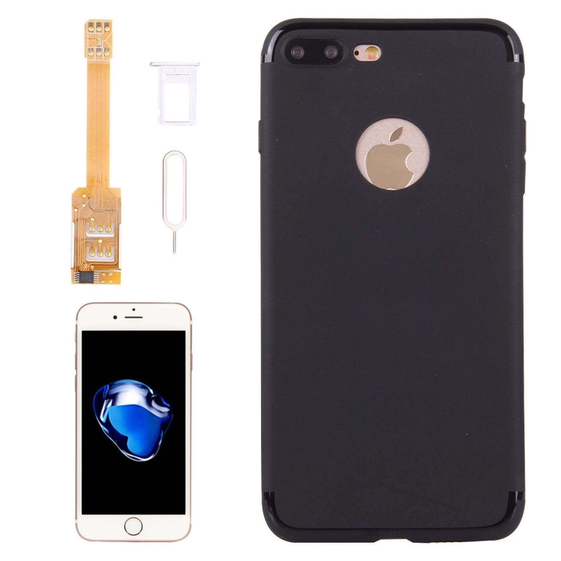 ... Kumishi For IPhone 7 Plus 2 In 1 Dual SIM Card Adapter + TPU BackCase Cover ...