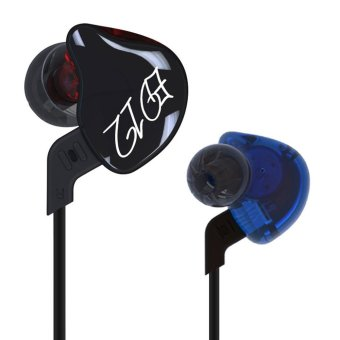 KZ ED12 HiFi Stereo Metal In-Ear Wired Earphone - Black (WithoutMic) - intl
