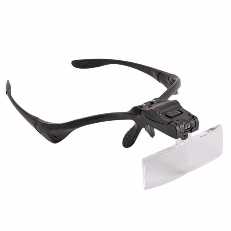 LALANG LED Light Head Magnifier Headband Glasses Clip MagnifierMagnifying Glass Jewelry Watch Repair .