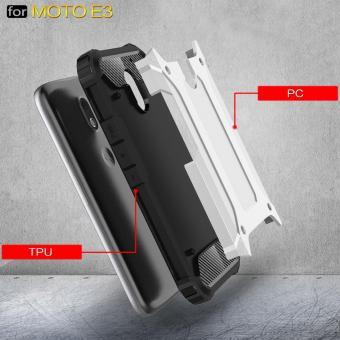Lapis ganda Case untuk Motorola Moto E () PC tugas TPU campuranbaja .