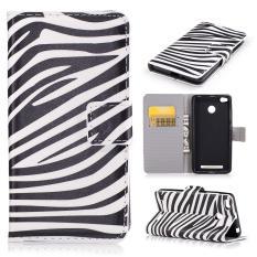 Leather Case Flip Wallet Card Slots Cover For Xiaomi Redmi 3S(Zebra Stripes) -