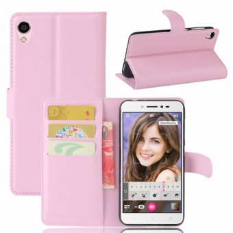 Leather Flip Cover Phone Case Wallet Card Holder For ASUS Zenfone 3 Go ZB501KL / Zenfone Live ZB501KL (Pink) - intl