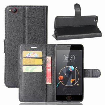 Leather Flip Cover Protective Case For ZTE Nubia M2 Lite (Black) - intl