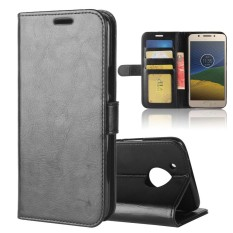 Leather Wallet Case Flip Stand Function Magnetic Closure Cover for Motorola Moto E4 Plus (American Version) - intl