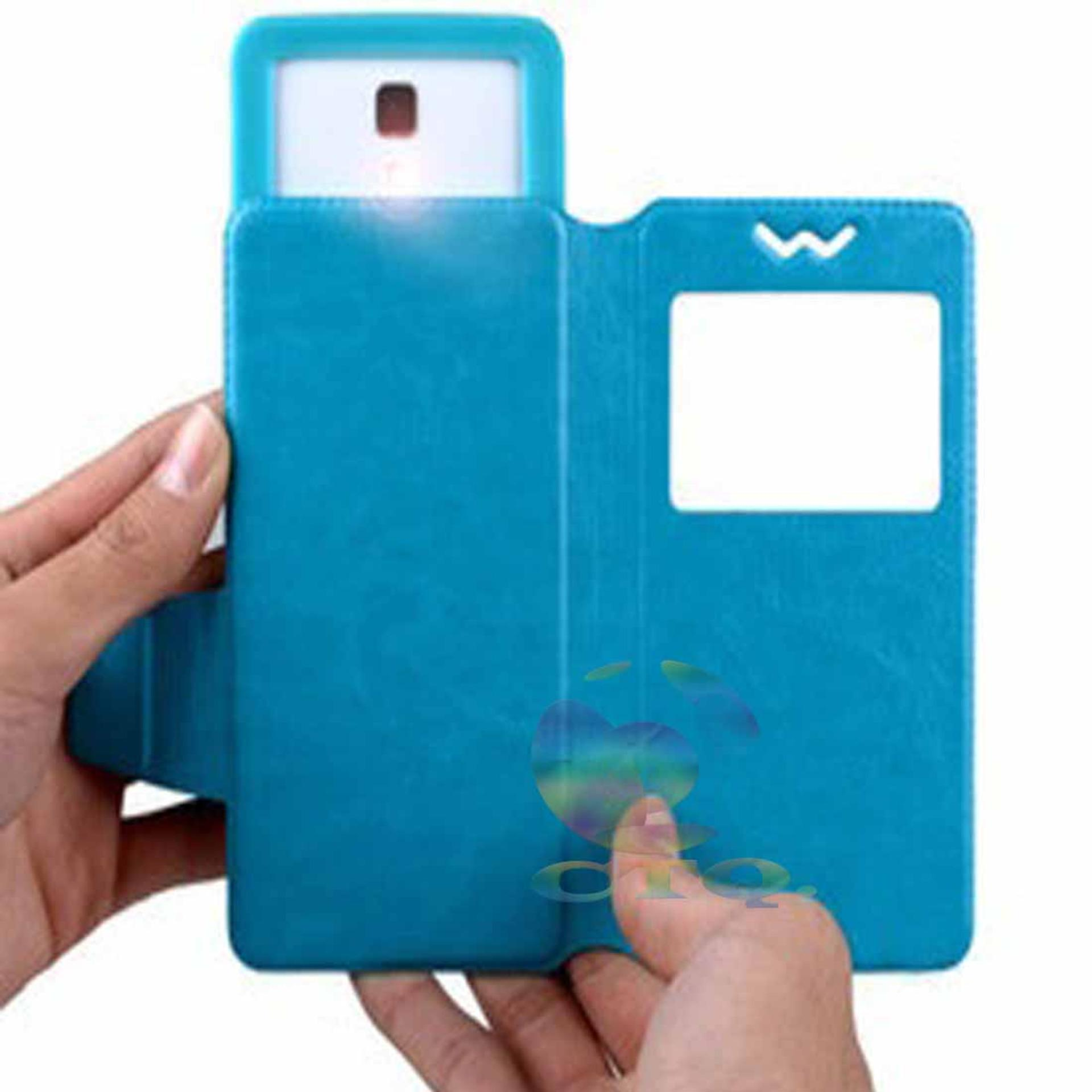 Leather Windows View Case For CoolPad Fancy 3 Smartphone Slide UpCase Universal Flipshell .