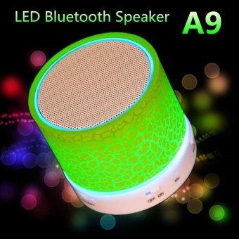 LED MINI Portable Wireless Bluetooth Speaker TF USB Music Sound Subwoofer Box (Green) ...