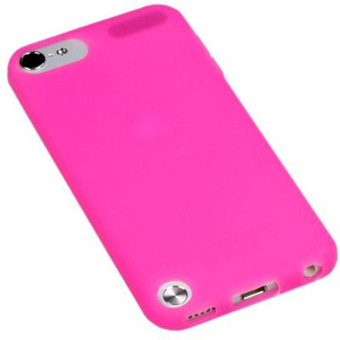Leegoal Fashion Hot Pink Soft Gel silikon pelindung untuk Apple iPod Touch 5 .