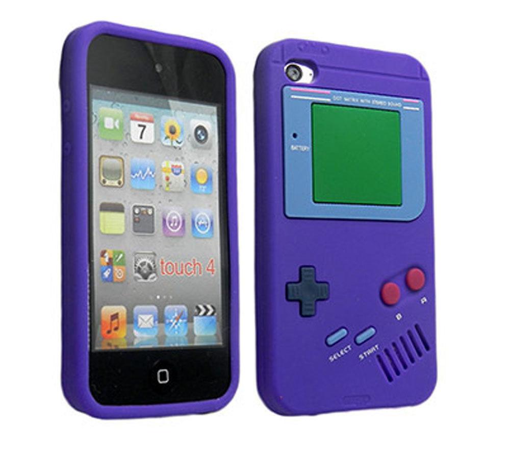 Leegoal Gameboy pelindung Case silikon lembut kulit penutup untuk Apple iPod Touch 4 .