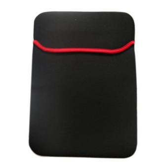 Harga leegoal Reversable Neoprene Notebook Laptop Sleeve Cover Case For15 Inch Asus Dell HP Notebook,Black And Red - intl