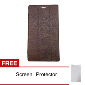 Lenovo Tab 2 A7-10 Smart Cover - Coklat + Gratis Screen Protector