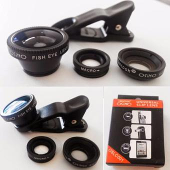 Lensa Fisheye 3in1 For Universal Smartphone Fisheye, Wide,Macro - Random