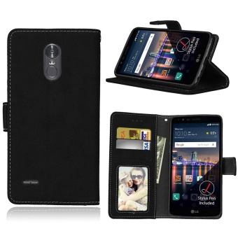 LG Stylus 3 / LG Stylo 3 Case, Retro Frosted PU Leather Flip MagnetWallet Stand