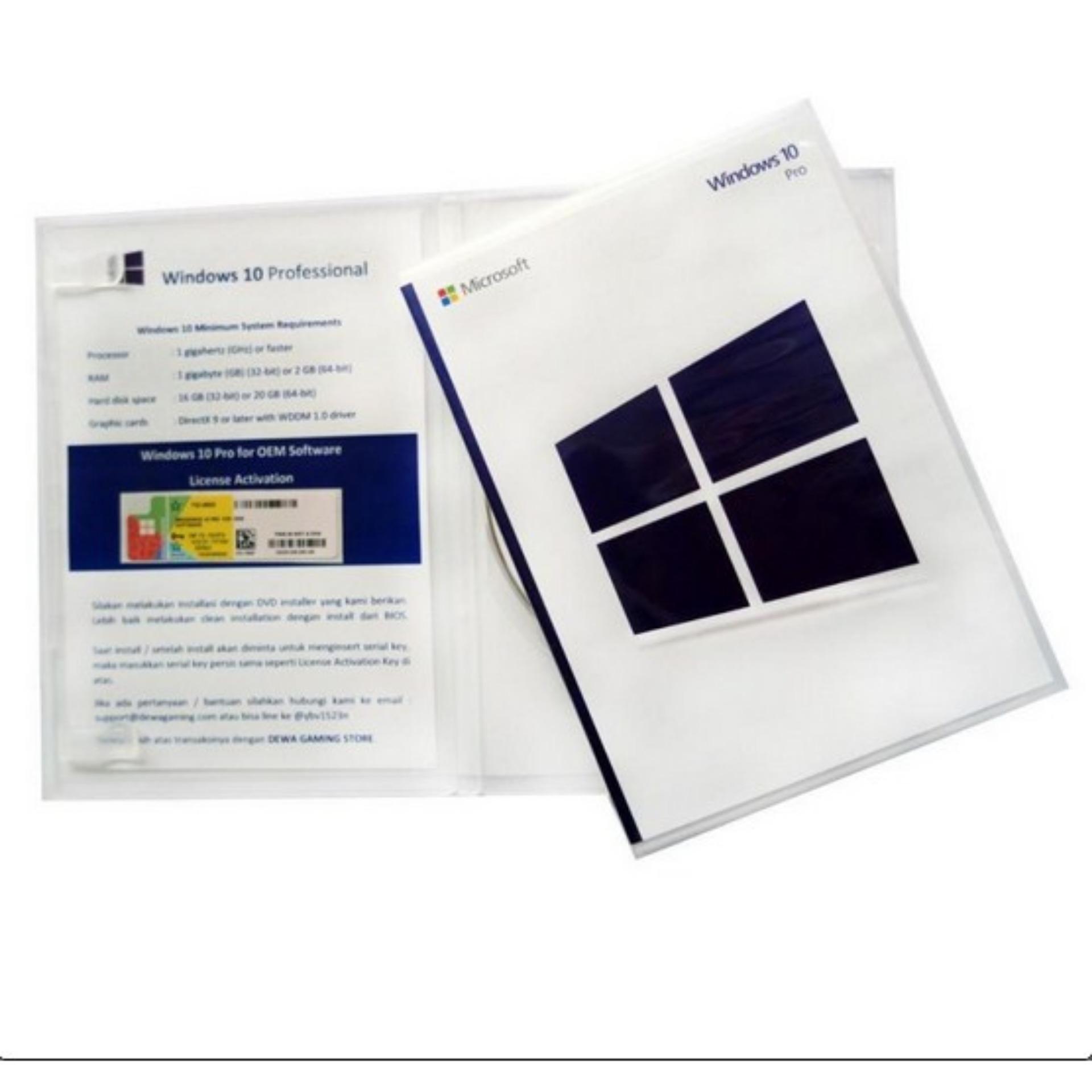 Online Murah Lisensi Coa Windows 10 Professional Oem Dvd Box Pro