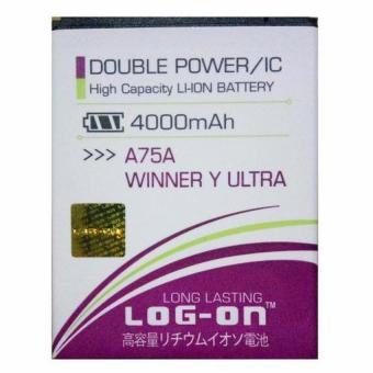 LOG ON Baterai Double Power Evercoss A75A Winner Y Ultra/A75/A75G/Y MAX Battery Original
