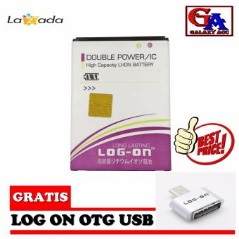 LOG-ON Battery For Andromax R2 - Double Power & IC + Bonus OTGMicro