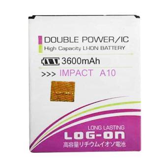 LOG-ON Battery For Mito A10 3600mAh - Double Power & IC Battery- Garansi 6 Bulan