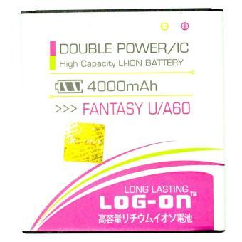 LOG-ON Battery For Mito Fantasy U / A60- 4000mAh Double Power &IC - Garansi 6 Bulan