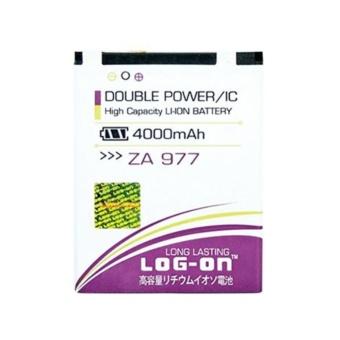 LOG-ON Battery For ZYREX ZA977 4000mAh Double Power & IC -Garansi 6 Bulan