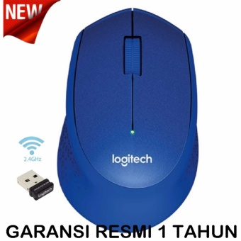 Logitech M331 Silent Wireless Mouse - Biru