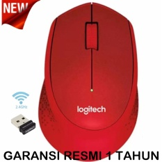 Logitech M331 Silent Plus Wireless Mouse - Merah.