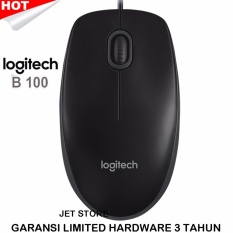 Logitech Original Mouse Optical B100 - Hitam.