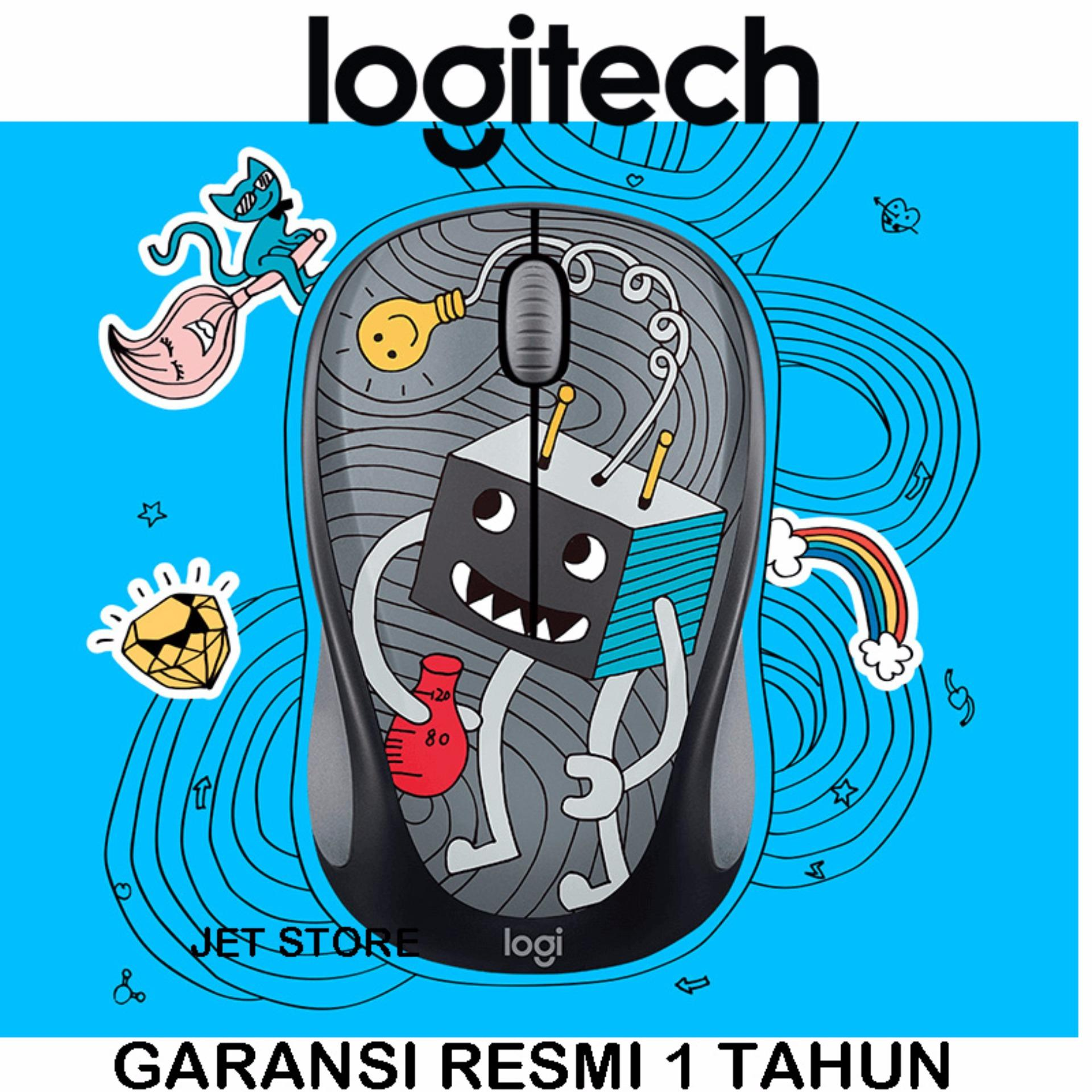 Kehebatan Logitech Wireless Mouse Party Collection M238 Popsicles M170 Original Garansi Resmi Doodle Lightbulb