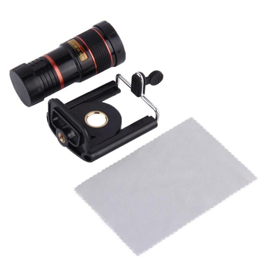 Long Focal Telescope Camera Lens for Cell Phone Universal Mount 8XOptical Zoom - intl