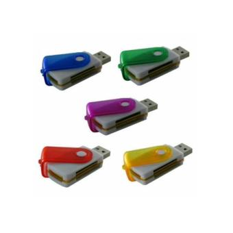 Lucky - Card Reader USB All In One - 4 Slot Model Flashdisk Putar / 1Pcs