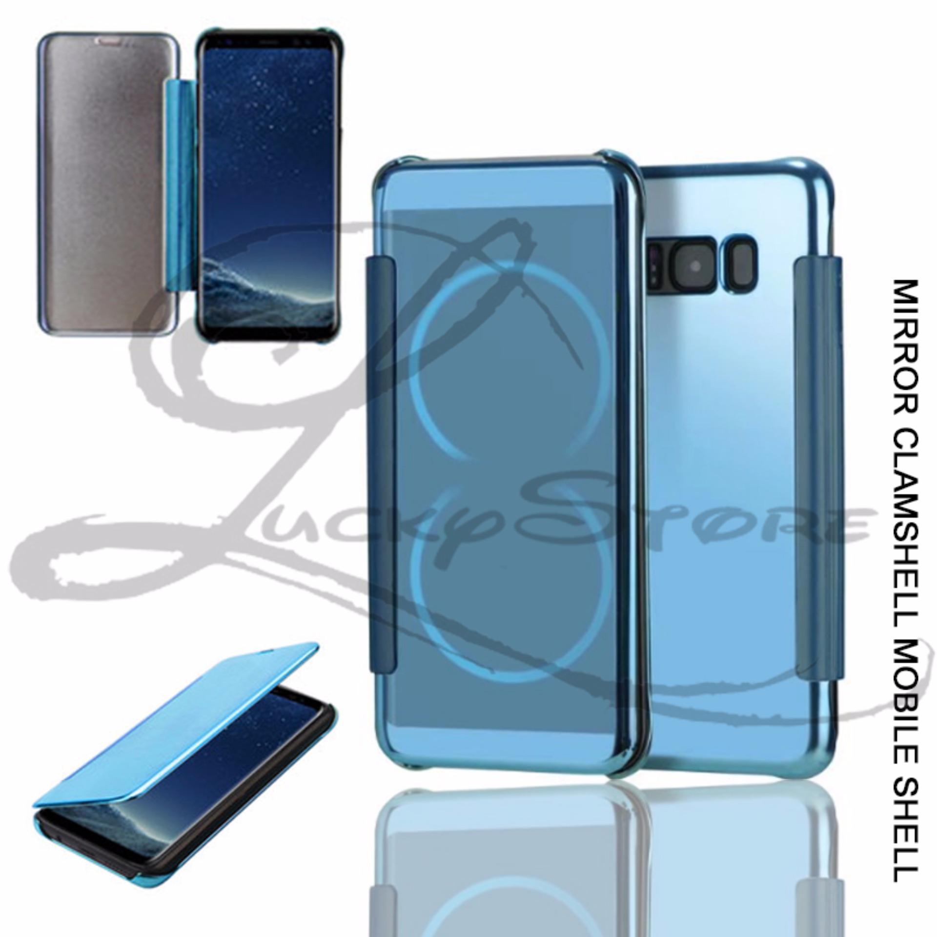 ... Lucky Case Samsung Galaxy S8 Flipcase Flip Mirror Cover S View Transparan Auto Lock Casing Hp ...