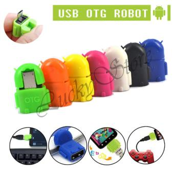 Lucky OTG Android Adapter Micro USB Robot - Orange