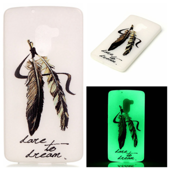 Luminous TPU Phone Case for Lenovo Vibe K4 Note/Vibe X3 Lite - Feather