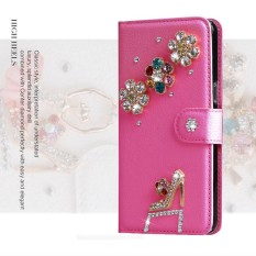 luxurious Women Handmade Rhinestone Diamond Leather Wallet Cover Case For Acer Liquid E600 - intl