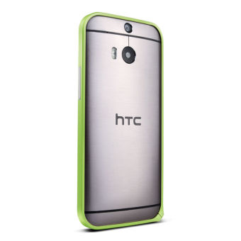 Luxury Aluminum Metal Bumper Case for HTC One M8 (Green)
