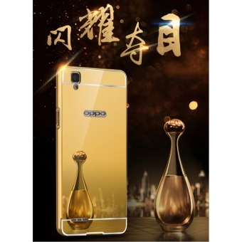 Luxury Mirror Bumper Anti-Scratch Bright Protective Case For OPPOF1/A35(rose gold) - intl - 5