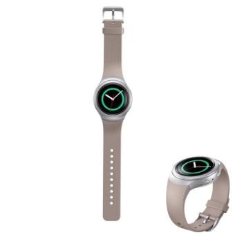 Mewah Silikon Tali Jam untuk Samsung Galaxy Gear S2 SM-R720 GY-Intl