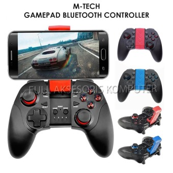 M-Tech 7004 Gamepad Turbo Bluetooth with Lithium Battery - Merah